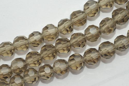35 FACETTIERTE GLASPERLEN 6 MM BRÄUNLICH GRAU P3-13