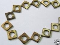 20 MM PERLMUTT QUADRATE STRANG MIT AUSSPARUNG GOLD BRAUN G3-04