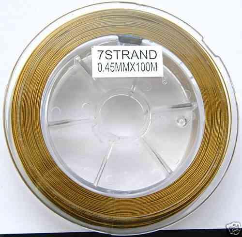 12 M STAHLSEIDE GOLDFARBEN 0,45 MM P8-04 P8-04