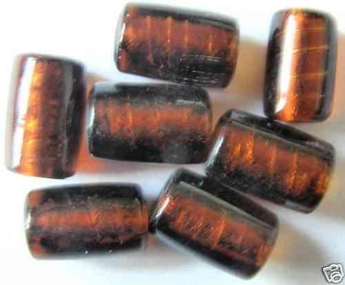 Y5-01 9 SILBERFOLIE GLASPERLEN ZYLINDER 12x8 MM GRÜN