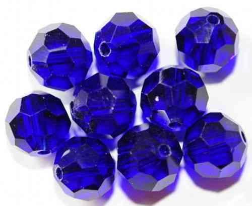 AH5-10 10 GLASPERLEN KUGELN FACETTIERT MIT AB 8 MM SCHWARZ