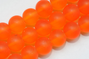 300 GLASPERLEN KUGELN 4 MM ORANGE MATT