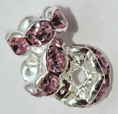 3 STRASS RONDELLE 8x4 MM ROSA 6513