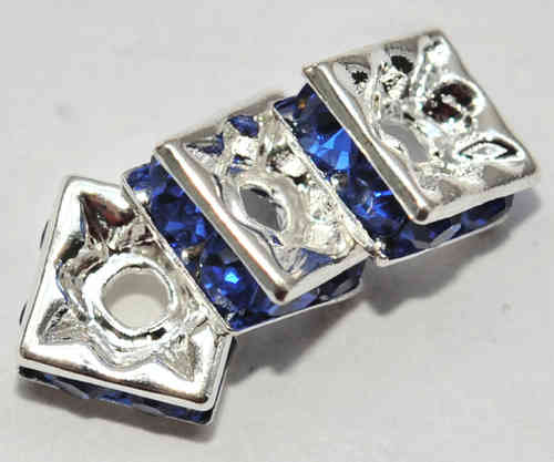 3 STRASS QUADRATE 6x3 MM SAPHIR-BLAU 6518