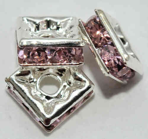 3 STRASS QUADRATE 6x3 MM ROSA 6519
